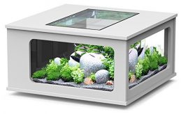 Aquarium table LED 100_100 cm blanc