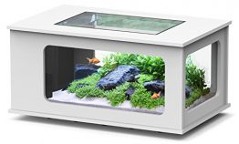 Aquarium table LED 130_75 cm blanc