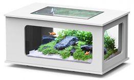 Aquarium table LED 130_75 cm blanc
