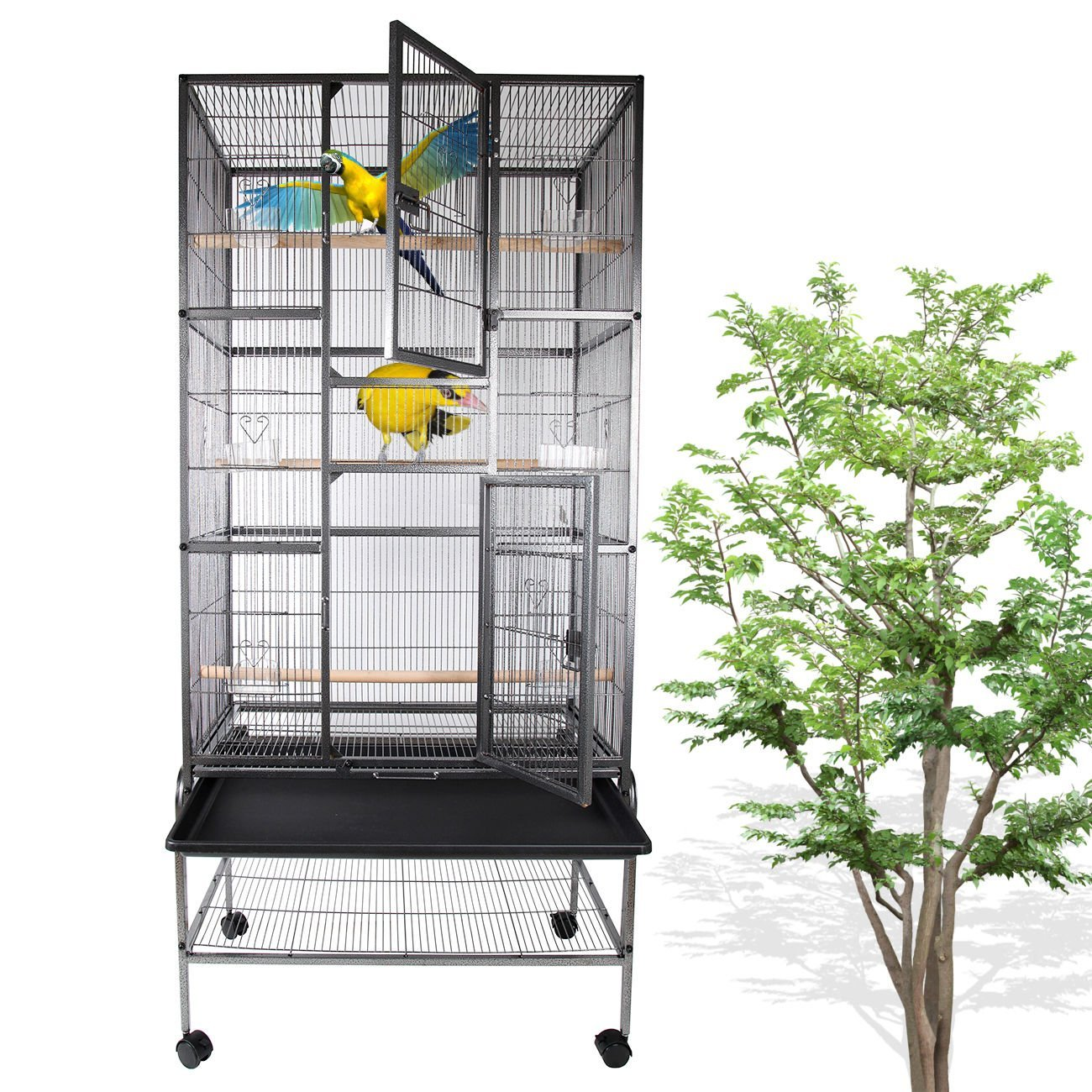 Cage oiseaux Voliere Budgie Canary Finch Parrot Maison Cockatoo Birdcage