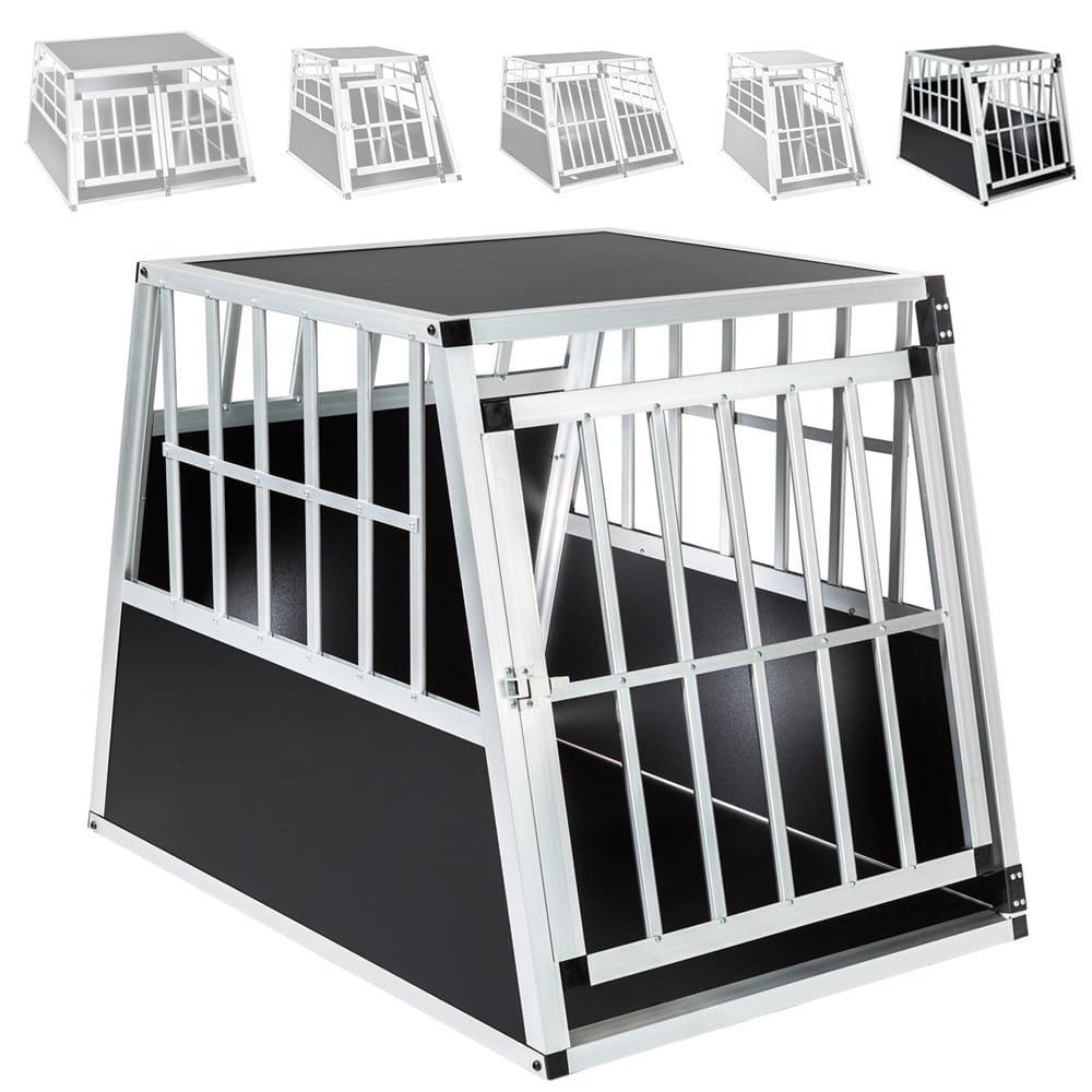 caisse de transport pour chien mobile en aluminium tectake. Black Bedroom Furniture Sets. Home Design Ideas