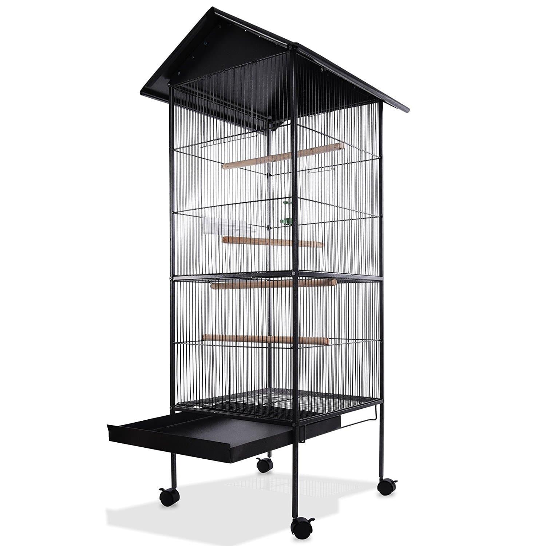 Voliere cage oiseaux metal canaries perroquet perruches hauteur 157cm