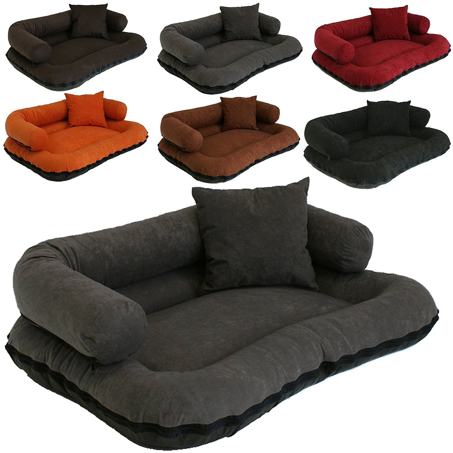 coussin pour chien en microfibre aspect canap beate. Black Bedroom Furniture Sets. Home Design Ideas