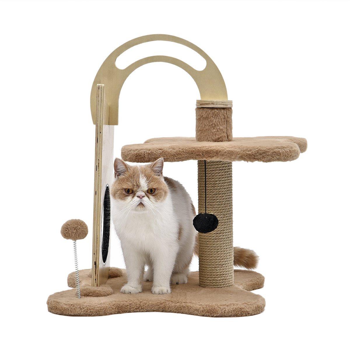 arbre chat et griffoir design pawz de couleur beige. Black Bedroom Furniture Sets. Home Design Ideas