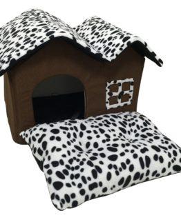 Niche d'intérieur pour chien avec Coussin Confortable